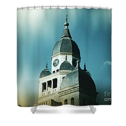 Denton County Courthouse Shower Curtain by Angela Wright