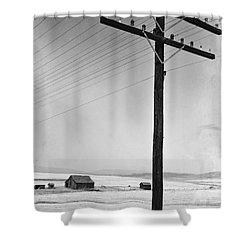 Depression Era Rural America Shower Curtain by Photo Researchers