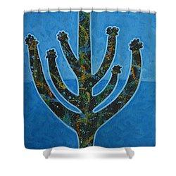 Desert Blue Shower Curtain by Lance Headlee