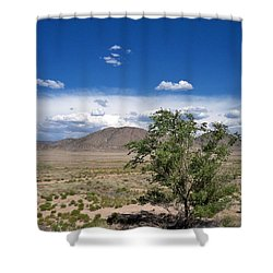 Desert In New Mexico Shower Curtain by Rick Frost