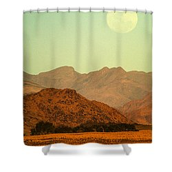 Desert Moonrise Shower Curtain