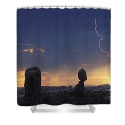 Desert Storm - Fs000484 Shower Curtain by Daniel Dempster