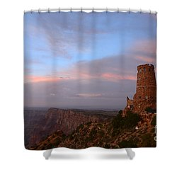 Desert View Watchtower Shower Curtain by Cassie Marie Photography