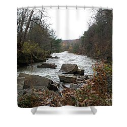 Shower Curtain featuring the photograph Destination Atlantic by Christian Mattison