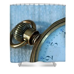 Details Of Time 1 Shower Curtain by Kay Lovingood