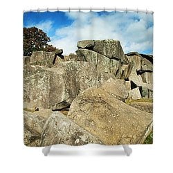 Devil's Den Formation 87 Shower Curtain by Paul W Faust -  Impressions of Light