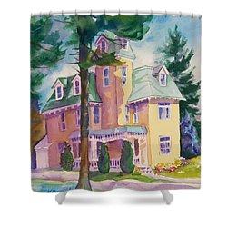 Dewey-radke Glowing Shower Curtain by Kathy Braud