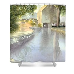 Dexter Grist Mill Reflections Shower Curtain by Joseph Gallant
