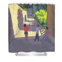 Diabolo France Shower Curtain by Andrew Macara
