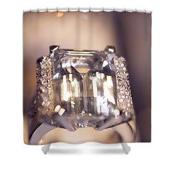 Diamond Ring. Spirit Of Treasure Shower Curtain by Jenny Rainbow