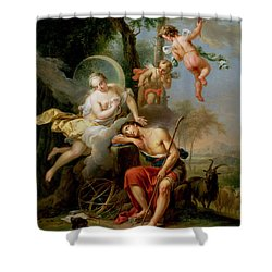 Diana And Endymion Shower Curtain by Frans Christoph Janneck