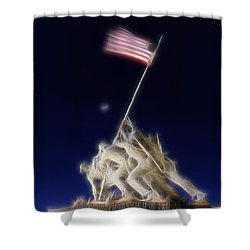 Digital Lightening - Iwo Jima Memorial Shower Curtain