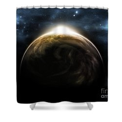 Digitally Generated Image Shower Curtain by Vlad Gerasimov
