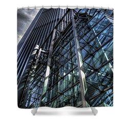 Dimensions Shower Curtain by Yhun Suarez