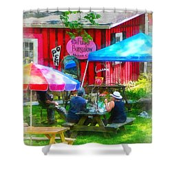 Dining Al Fresco Shower Curtain by Susan Savad