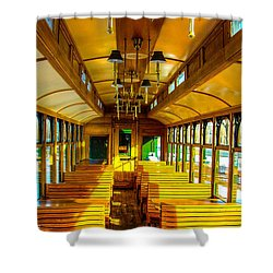 Shower Curtain featuring the photograph Dining Car by Shannon Harrington