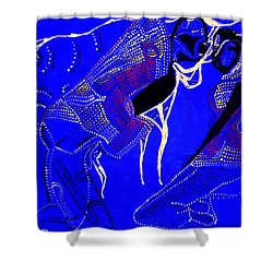 Shower Curtain featuring the painting Dinka Marriage by Gloria Ssali