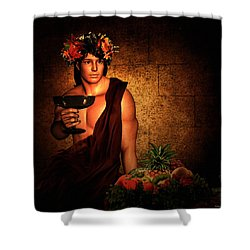 Dionysus Shower Curtain by Lourry Legarde