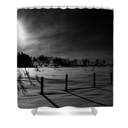 Direction Of Enlightenment  Shower Curtain by Empty Wall