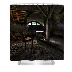 Dirty Tv Shower Curtain by Nathan Wright
