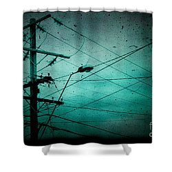 Disconnection Shower Curtain by Andrew Paranavitana