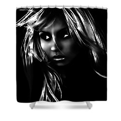 Distrusting Shower Curtain by Tbone Oliver