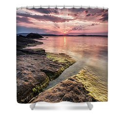 Divine Sunset Shower Curtain by Evgeni Dinev