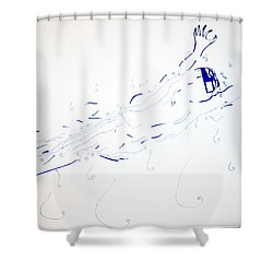 Diving Shower Curtain by Gloria Ssali