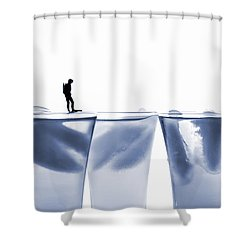 Diving In Ice Water Shower Curtain by Paul Ge