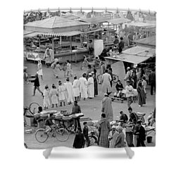 Djemaa El Fna Marrakech Morocco Shower Curtain by Tom Wurl