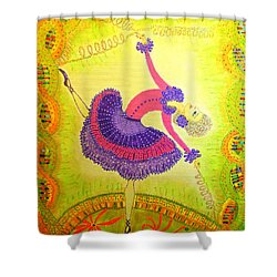 Dna Dancer Shower Curtain