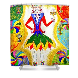 Dna Woman-eternal Life Shower Curtain