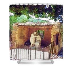 Do-00500 St Rafqa Statue Shower Curtain