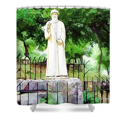 Do-00541 St Charbel Statue Shower Curtain
