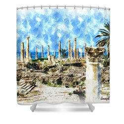 Do-00550 Ruins And Columns Shower Curtain