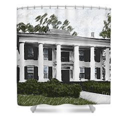 Dodd House Georgia Plantation Shower Curtain by Lianne Schneider