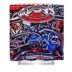 Dodge Motor Hdr Shower Curtain by Randy Harris