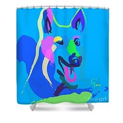 Dog - Colour Dog Shower Curtain