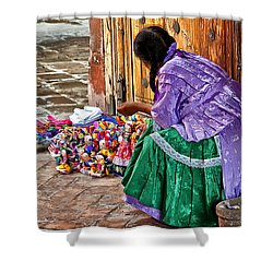 Dolls For Sale Shower Curtain by Javier Barras