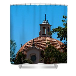Shower Curtain featuring the photograph Dome At Church Of The Little Flower by Ed Gleichman