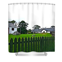 Shower Curtain featuring the photograph Donegal Home by Charlie and Norma Brock