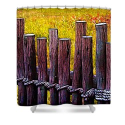 Don't Fence Me In Shower Curtain by Judi Bagwell