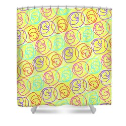 Doodles Shower Curtain by Louisa Knight
