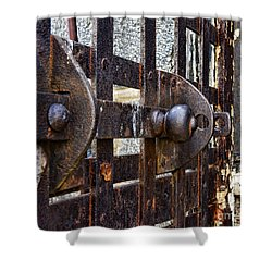 Door To Death Row Shower Curtain by Paul Ward