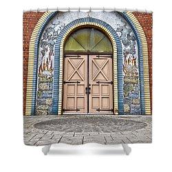 Doors Of Faith  Shower Curtain by Jerry Cordeiro