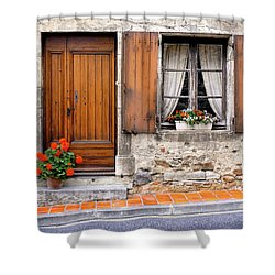 Shower Curtain featuring the photograph Doorway And Window In Provence France by Dave Mills