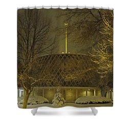 Shower Curtain featuring the photograph Dorcas Chapel by Tiffany Erdman