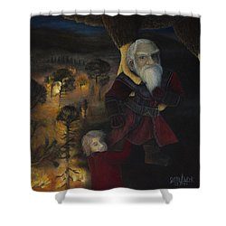 Shower Curtain featuring the painting Dori  by Joshua Martin