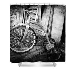 Dormant Child  Shower Curtain by Empty Wall