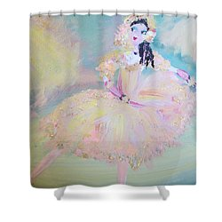 Shower Curtain featuring the painting Dorothy Dancer by Judith Desrosiers